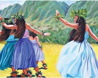Hawaiian Hula Ho'i