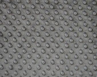 Gray Cuddle Minky Dimple Dot