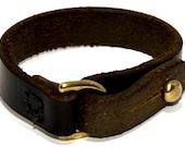 Midnight Cove: Handmade Dark Brown (Almost Black) Leather Bracelet