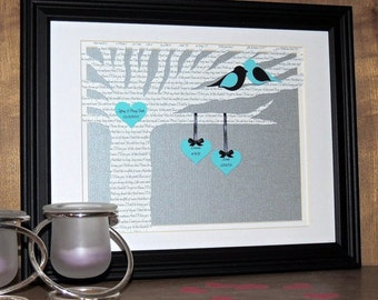 Best Anniversary Gift, Wedding Gift, Song Lyric Art - 1st Dance - Vows - Love Song Paper Lyric Tree, 3D Wedding Lyric Tree - Song Lyric Art