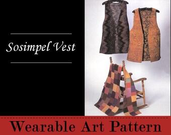 Sosimpel Vest - a long vest with open sides