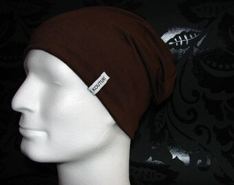 SALE % Jersey Beany Hat brown