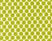 Amy Butler - LOTUS Full Moon Polka Dot in Lime - 1 Fat Quarter