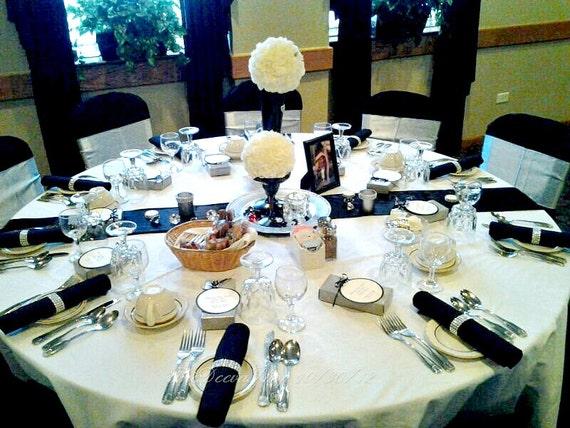 Silver  Napkin Rings Wedding or Party Rhinestone Diamond Crystal Bling Napkin Rings  100 Pc Lot