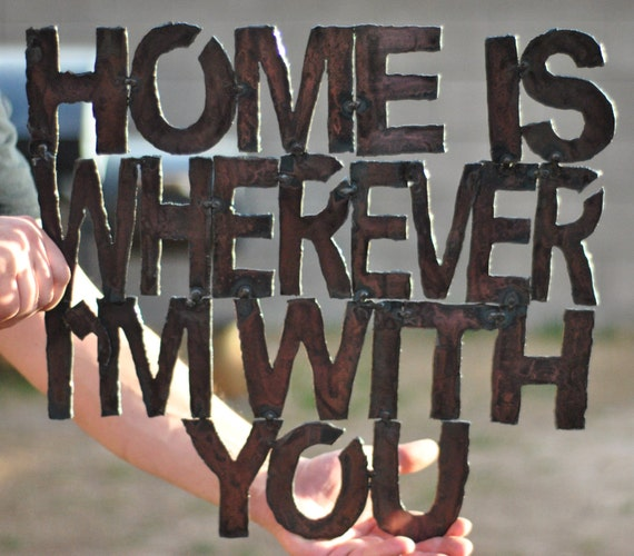Home Is Wherever I M With You Wood Sign Home Decor: Custom Wall Sign Home Is Wherever I'm With By