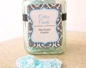 Blue Cotton Candy Sea Glass Candy  - Gourmet Candy - Carnival, Wedding, Baby Shower Favors 10oz