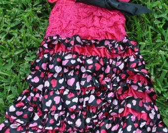 Pink with hearts Petti Dress