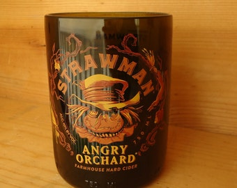 Angry Orchard Strawman Hard Cider Bottle Glass 18 oz