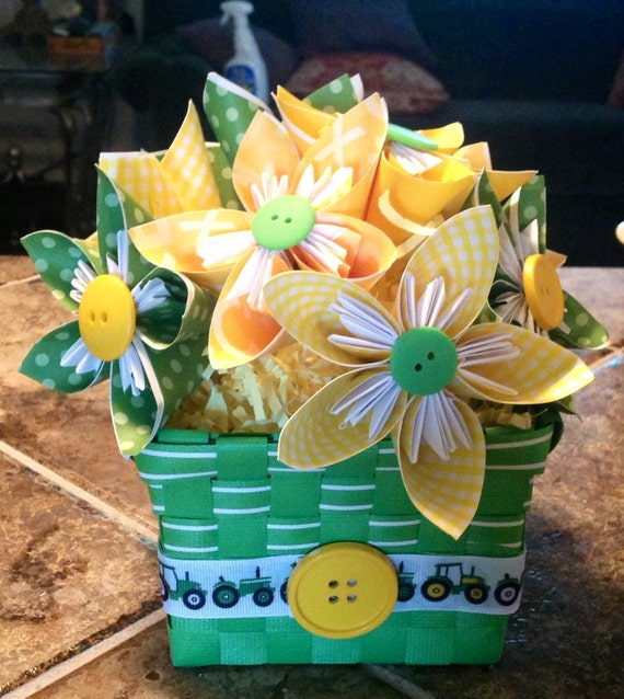 john deere baby shower centerpiece