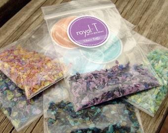 5-Pack Sampler, .20oz. Bag - Glass Taffy: Frit Blends for Lampwork Beads, 96 CoE
