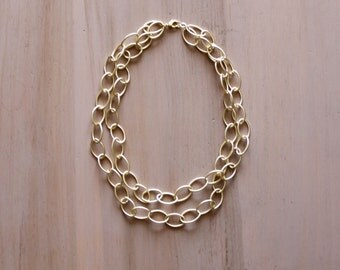 Double Layer Gold Chain Necklace