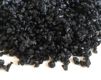 Black Lava Hawaiian Sea Salt - Witch's Salt - Finishing Salt - Contains Activated Charcoal - One Ounce