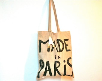 CUSTOM Made in Paris TOTE Shoulder Bag / Eve Damon