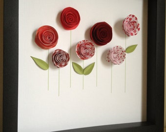 Paper Garden, 3D Paper Art, Customize with your colors and personalize