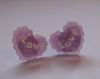SALE Love Heart Earrings