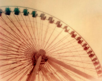 Chicago Navy Pier Ferris Wheel Polaroid Photograph