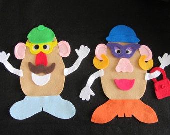 Mr. and Mrs. Potato Head Pieces for Felt Board