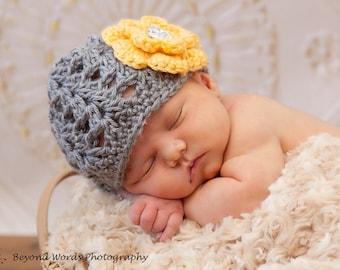 Cute Flower Baby Girl Crochet Hat