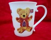 Staffordshire Hand Painted  Fine Bone  China , England, Teddybear Mug