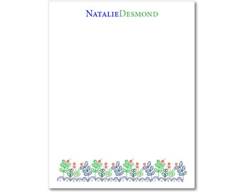 Personalized Notepads - Garden by Sonya - Set of 2