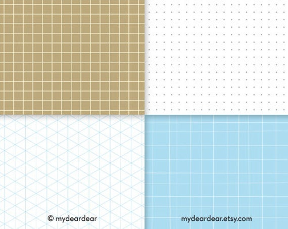 Grid Paper Graph Paper Mix Patterns Dots Squares