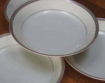 "Royal Limited ""Dynasty"" Set of Four Soup Bowls in Taupe"