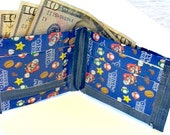 Duct tape wallet-  super mario