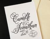 Wedding Save the Date, Elegant Wedding, Custom Monogram, Wedding Invitation, Personalized Wedding, DIY Wedding, Script Font