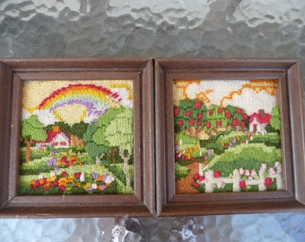 Pair Of Needlepoint Pictures