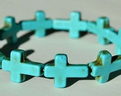 Small 12 x 12 Cross Bracelet (Crafted In The USA) - Available in various colors
