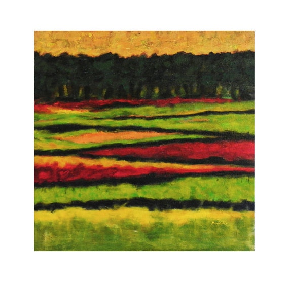 Acrylic Painting Meadows 3 Original Acrylic Painting by