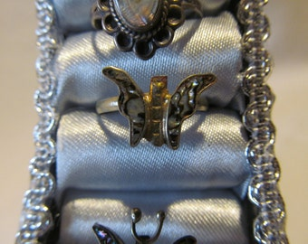Sterling Butterfly Ring Abologne Shell Size 7.5 Abologne Ring Butterfly Jewelry