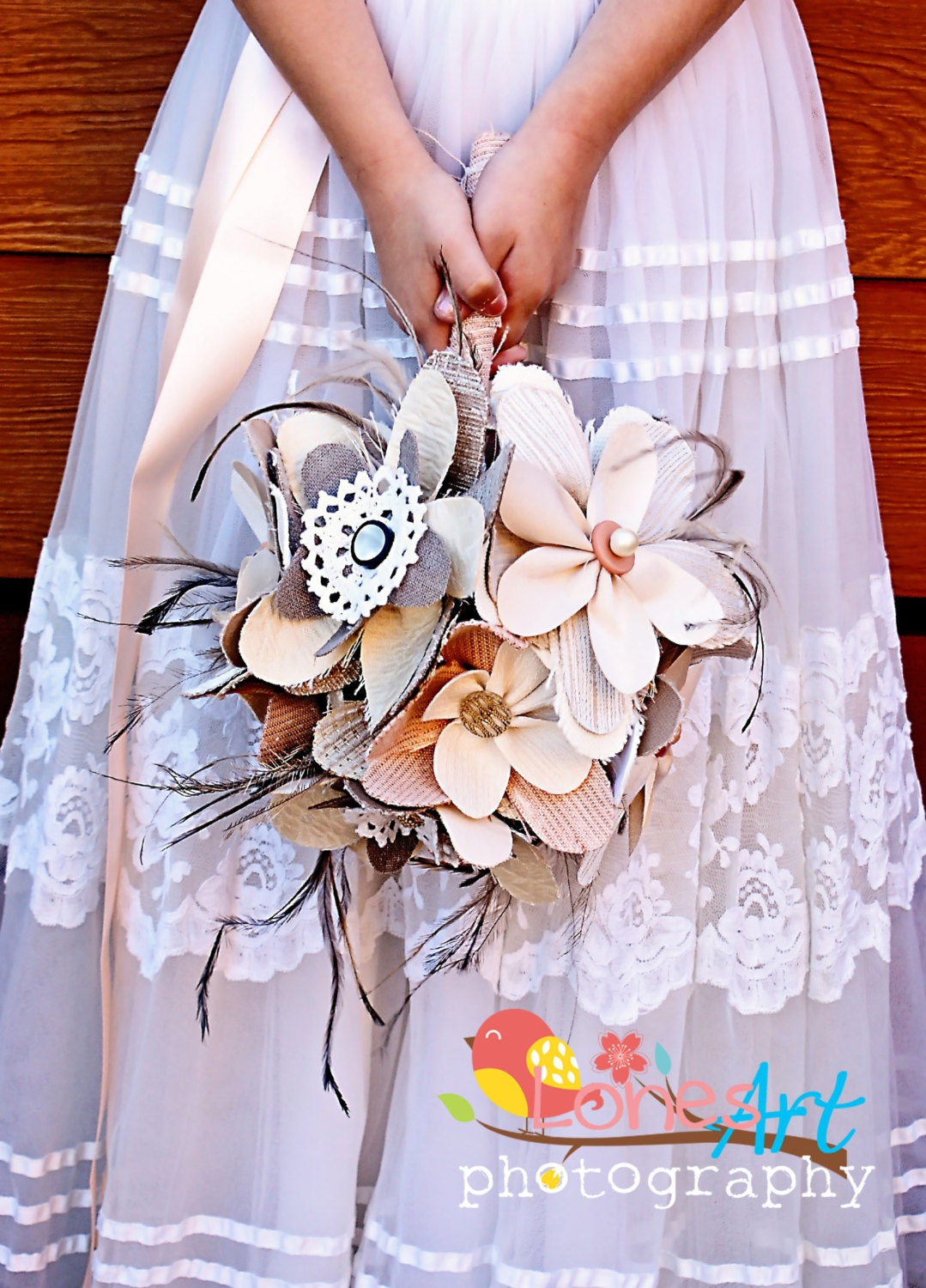 Button Bridal Bouquet Etsy : Fabric bridal bouquet wedding by designsofwhitewillow