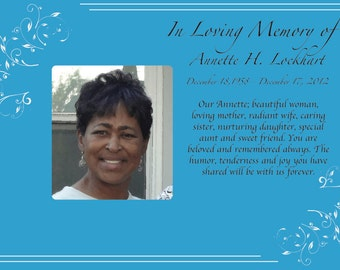 Custom Memorial Card FRONT AND BACK