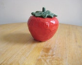 SALE Vintage Red Ceramic Stawberry