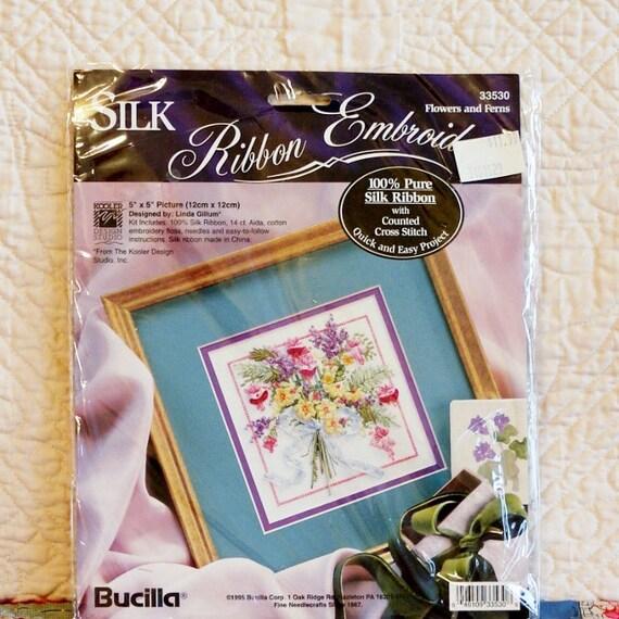 Silk ribbon embroidery kit bucilla by dartingdogcrafts