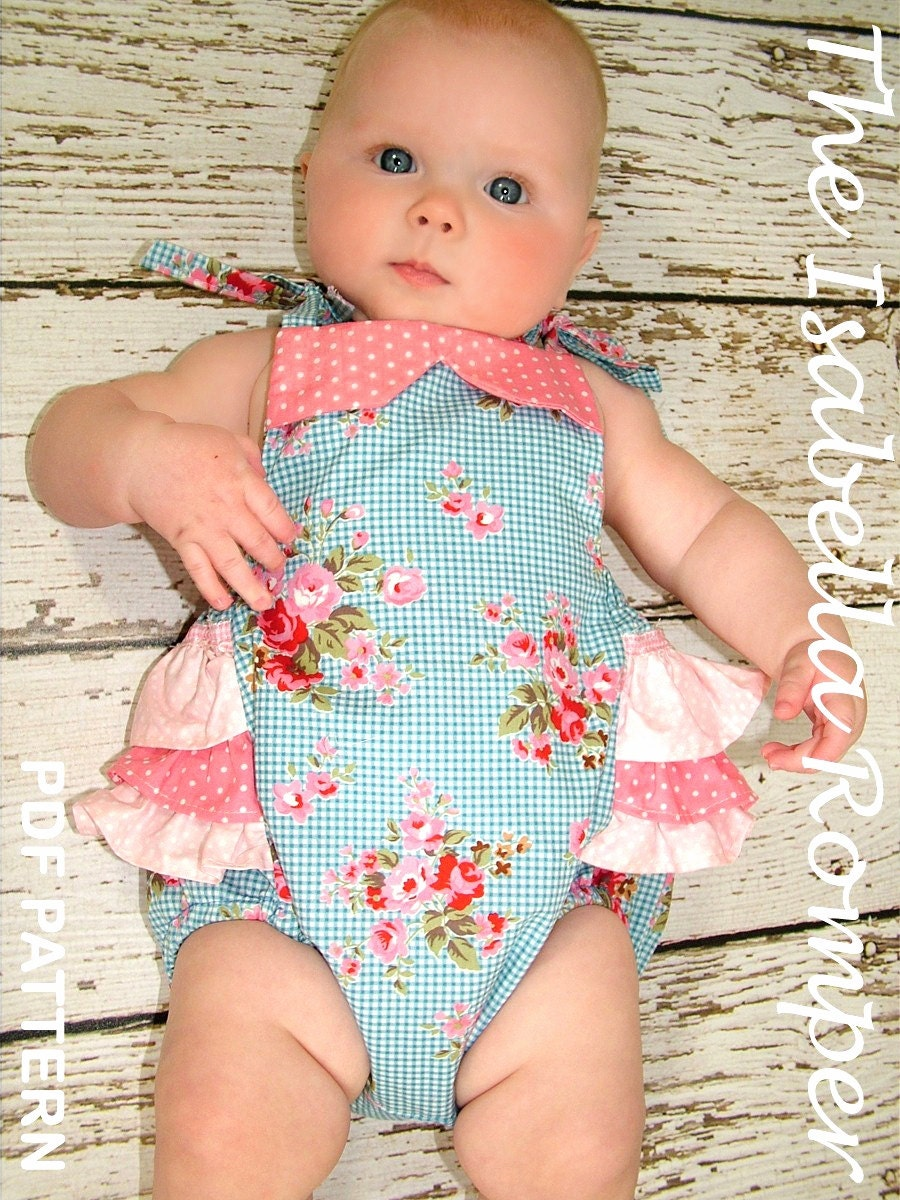 Pdf Sewing Pattern For Romper Sunsuit Baby Sewing Pattern For