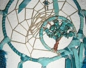 Scorpio Turquoise gemstone Dream catcher-For the month of March-Aquamarine-The Stone of Courage-by dreamcatcherman