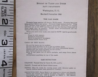 WWII  Chemical Warfare Reference Data Folder 1944