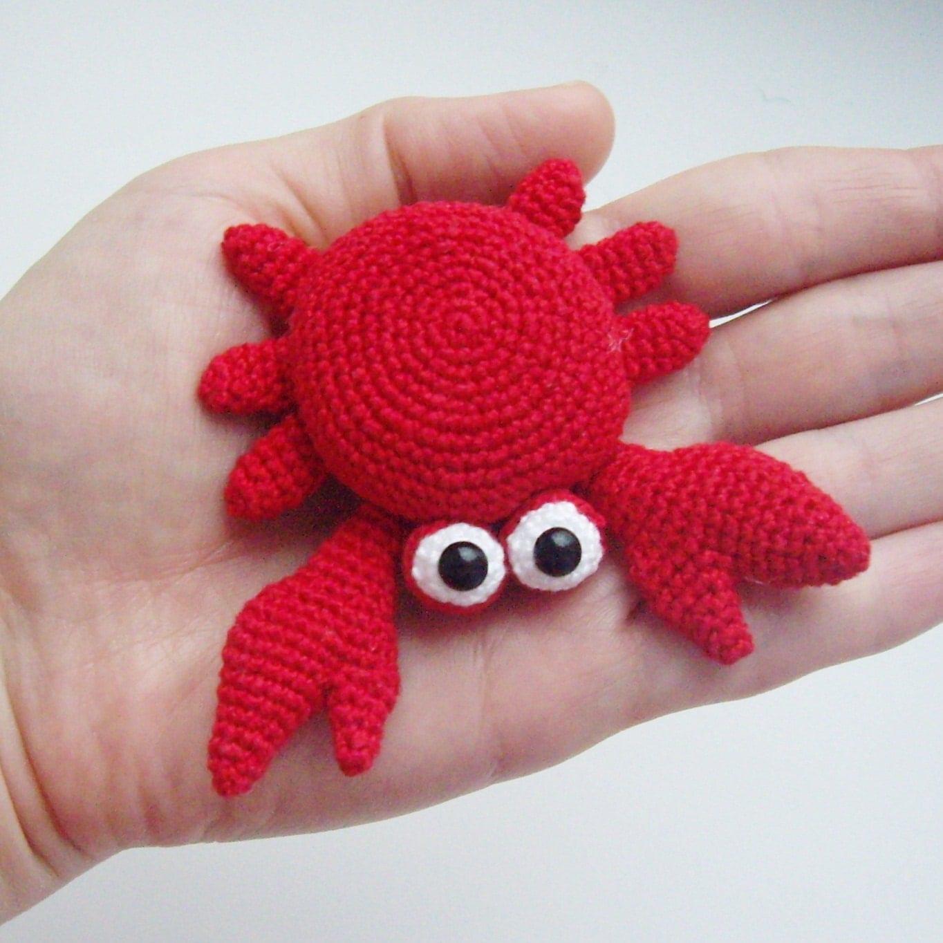 Crochet Amigurumi Crab : PDF PATTERN Crochet amigurumi toy Little red crab