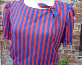 vintage striped dress M