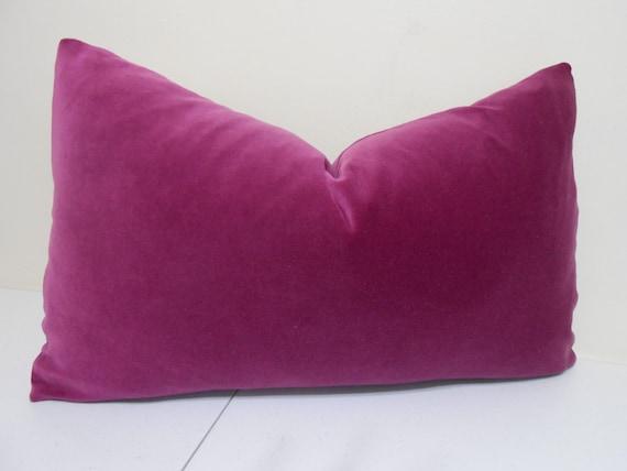 Throw Pillows Rules : Raspberry Velvet Decorative Lumbar Pillow Cover Cotton