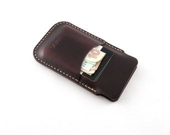 Horween Chromexcel iPhone 5 5s Leather Case Sleeve Wallet Ox Blood Burgundy