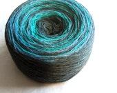 FREE SHIPPING WORLDWIDE Kauni Blue Turquoise Teal  Wool 8/2 Yarn 2ply Estonian Darkcyan Steelblue Selfstriping