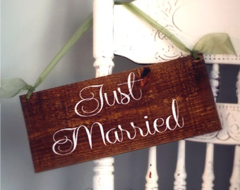 WEDDING SIGNS, Wedding Wooden Sign - Just Married Wooden Wedding Signs WS-67