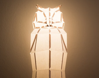 Penguin do it yourself paper lamp shade owl do it yourself paper lamp shade solutioingenieria Image collections