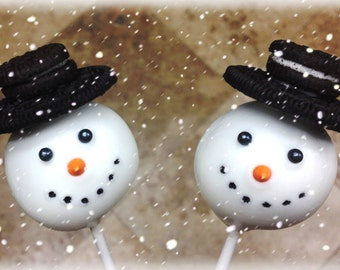 Christmas Snowman & Christmas Themed Cake Pops