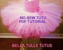 No Sew Tutu PDF Tutorial + FREE Tulle Tote Tutorial/ Instant Download