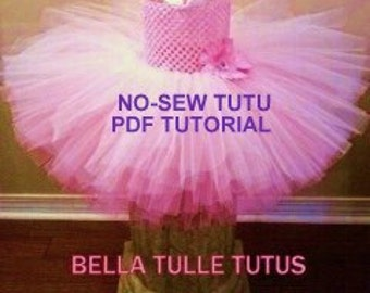 Tutu Tutorial~ PDF Tutorial Instant Download~FREE Tulle Tote Tutoria with Purchase~