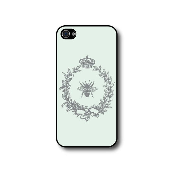 iphone 5 case iphone 5s case wreath crown bee iphone 4